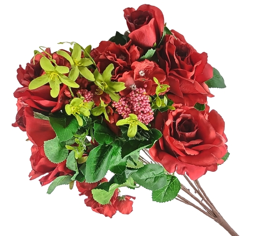 bukiet sztucznych róż